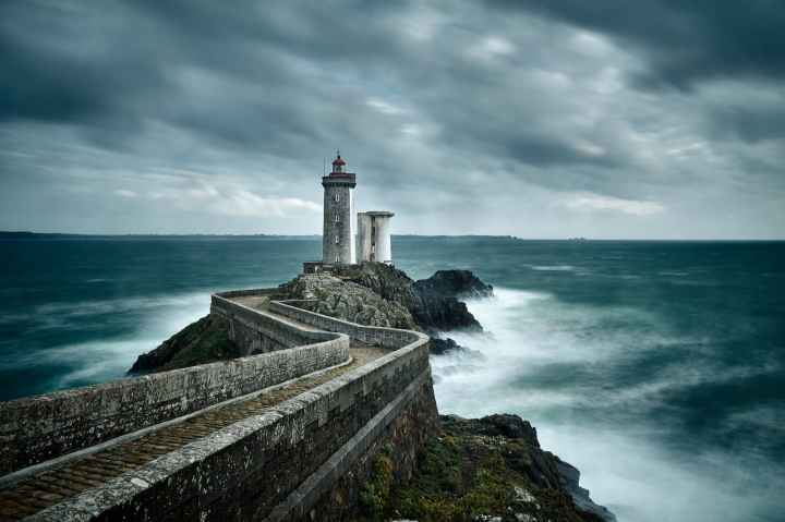 long exposure photography of a lighthouse