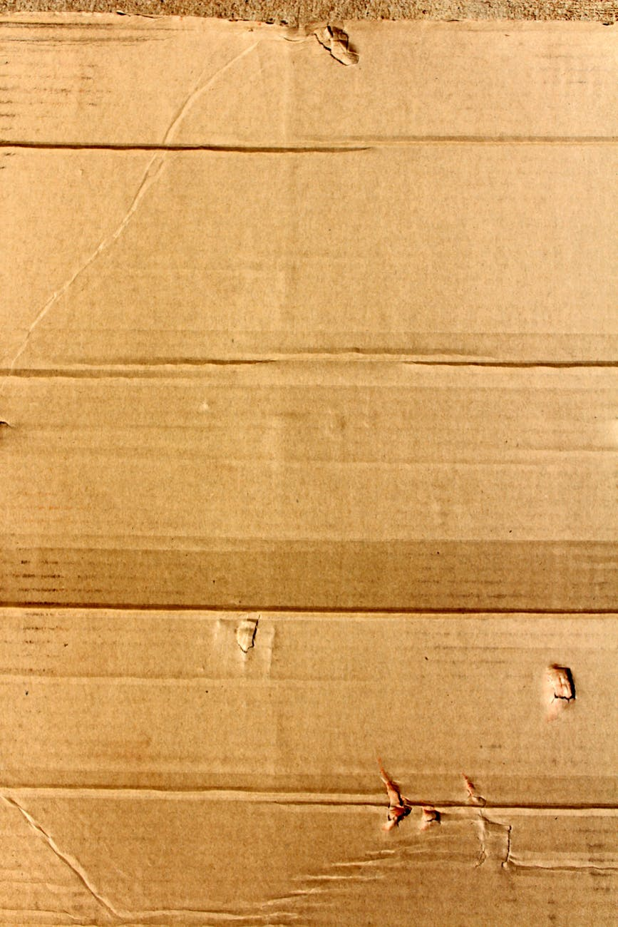 brown cardboard close up corrugated
