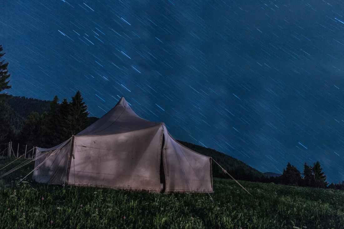 sky night stars tend