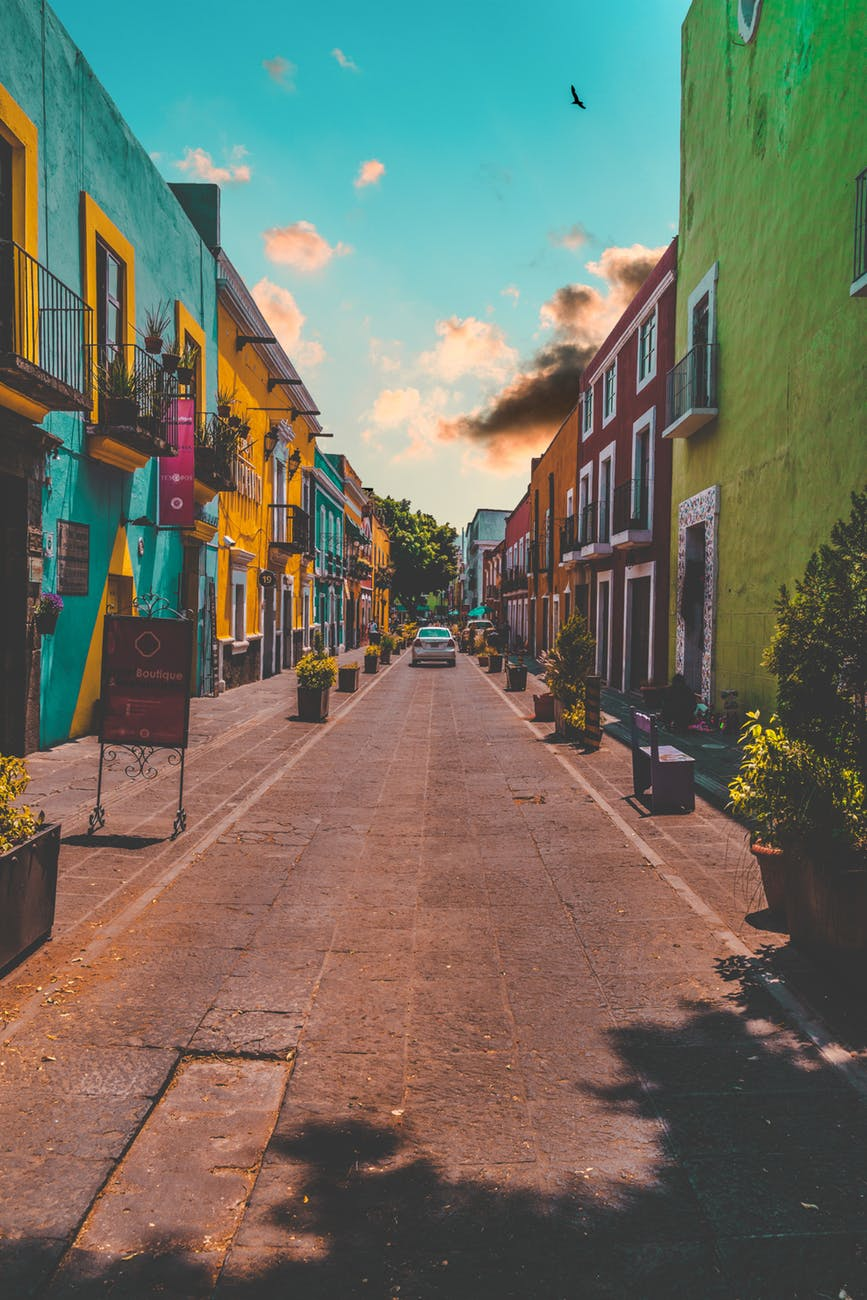 colorful painted buildings